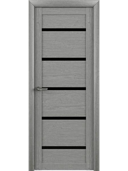 Межкомнатная дверь Trend doors ПО T-2 (Ясень дымчатый - Черный акрилат)