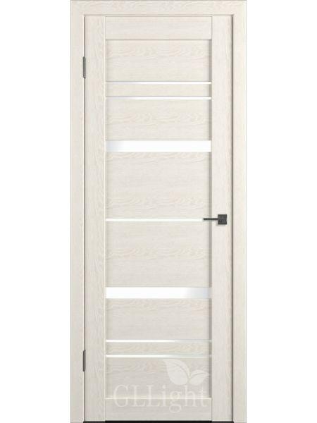 Межкомнатная дверь ВФД GL Atum X30 (Беленый дуб - белое стекло)