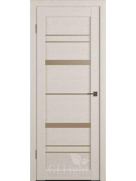 Межкомнатная дверь ВФД GL Atum X30 (Капучино - стекло бронза)