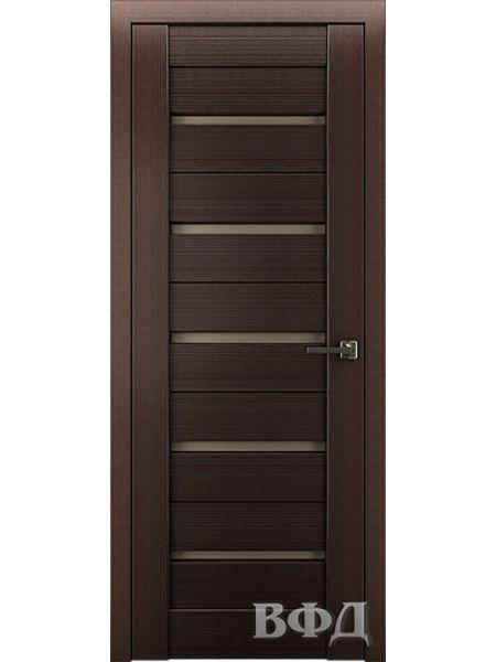 Межкомнатная дверь ВФД LINE 1 (Венге - Бронза)