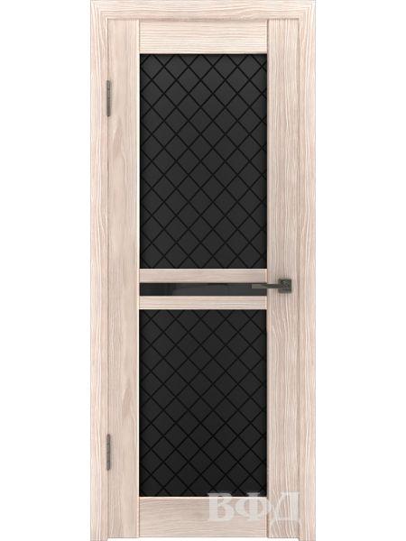 Межкомнатная дверь ВФД LINE 12 (Капучино - Черные ромбы)