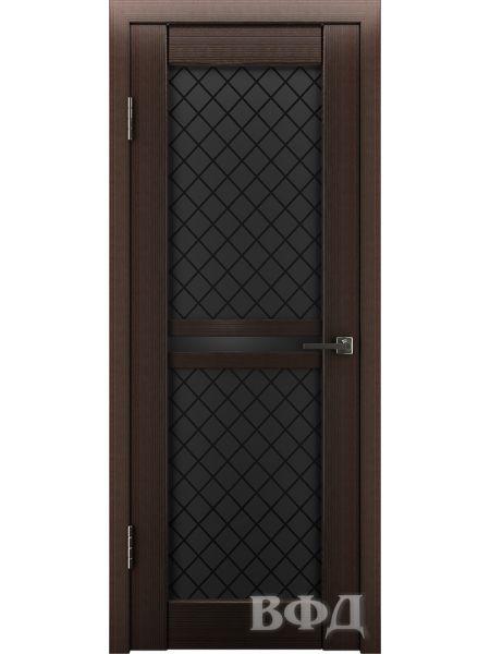 Межкомнатная дверь ВФД LINE 12 (Венге - Черные ромбы)