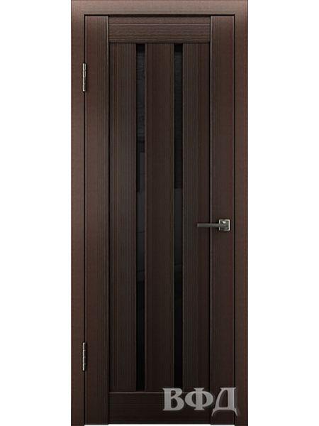 Межкомнатная дверь ВФД LINE 2 (Венге - Ультра черное)