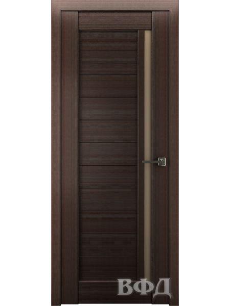 Межкомнатная дверь ВФД LINE 9 (Венге - Бронза)