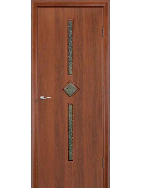 Межкомнатная дверь ПО Диадема (Итальянский орех)