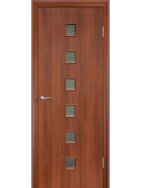 Межкомнатная дверь ПО Квадрат (Итальянский орех)