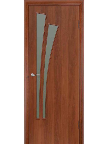 Межкомнатная дверь ПО Лагуна (Итальянский орех)