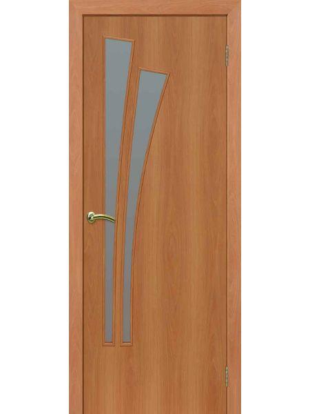 Межкомнатная дверь ПО Лагуна (Миланский орех)