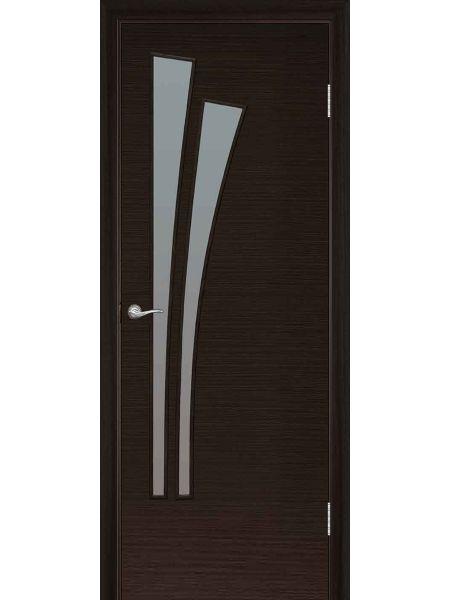 Межкомнатная дверь ПО Лагуна (Венге)
