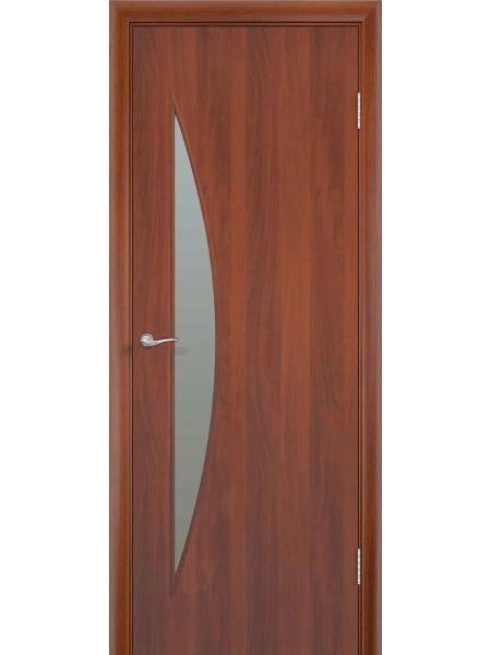 Межкомнатная дверь ПО Луна (Итальянский орех)