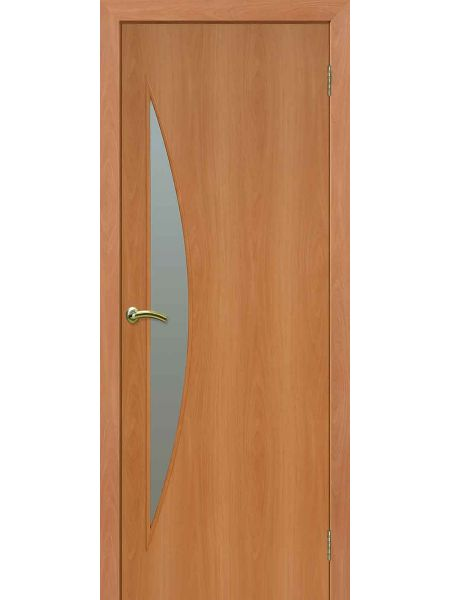 Межкомнатная дверь ПО Луна (Миланский орех)