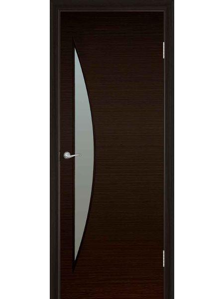 Межкомнатная дверь ПО Луна (Венге)
