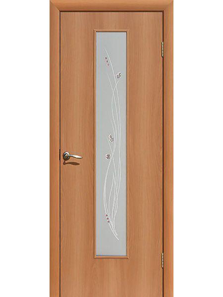 Межкомнатная дверь ПО Роса (Миланский орех)