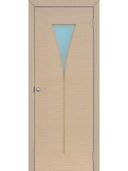 Межкомнатная дверь ПО Рюмка (Беленый дуб)