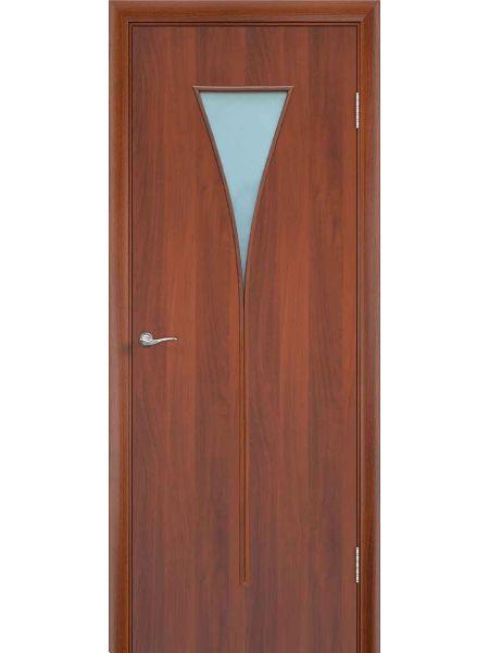 Межкомнатная дверь ПО Рюмка (Итальянский орех)