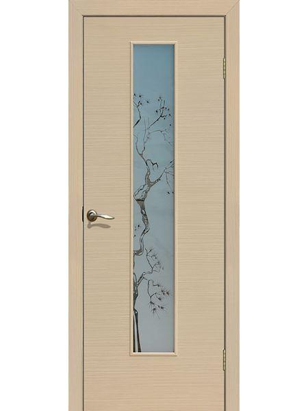 Межкомнатная дверь ПО Сакура (Беленый дуб)