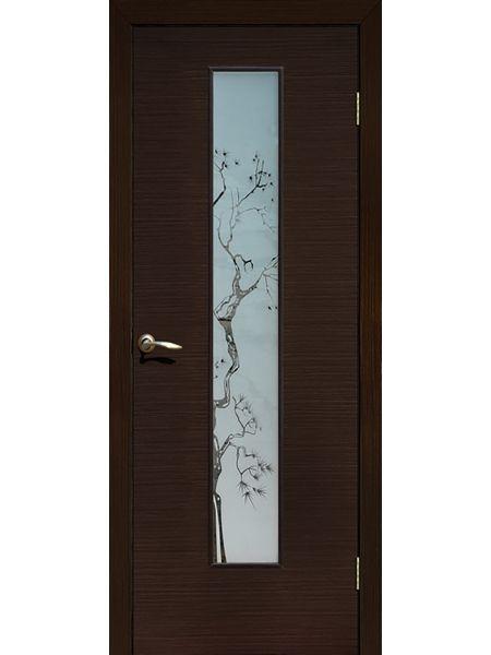 Межкомнатная дверь ПО Сакура (Венге)