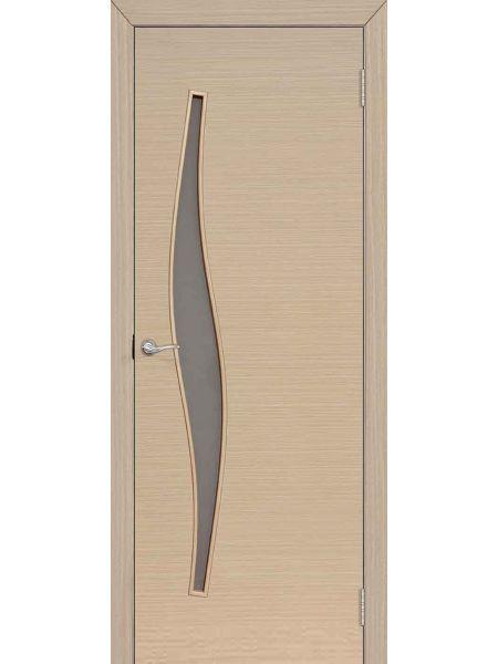Межкомнатная дверь ПО Волна (Беленый дуб)