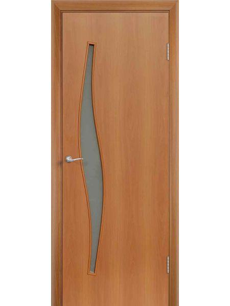 Межкомнатная дверь ПО Волна (Миланский орех)