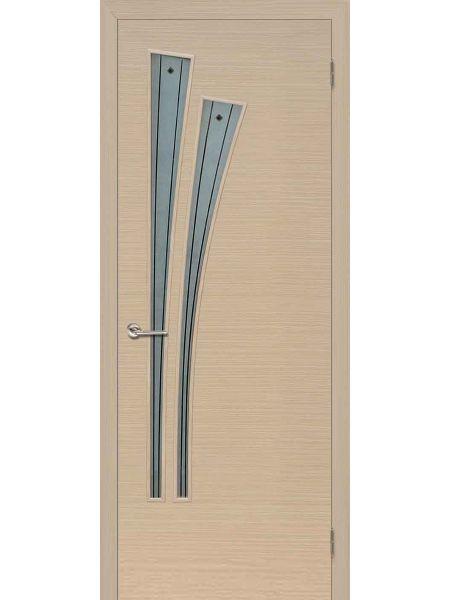Межкомнатная дверь ПОФ Лагуна (Беленый дуб)
