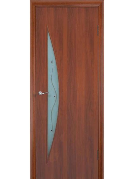 Межкомнатная дверь ПОФ Луна (Итальянский орех)