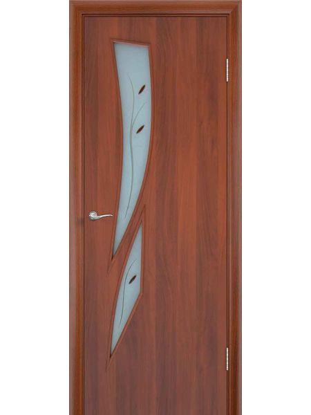 Межкомнатная дверь ПОФ Стрелиция (Итальянский орех)
