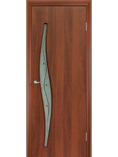 Межкомнатная дверь ПОФ Волна (Итальянский орех)
