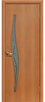 Межкомнатные двери ПОФ Волна (Миланский орех - Фьюзинг)