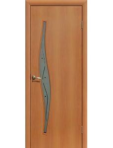 Дверь ПОФ Волна (Миланский орех - Фьюзинг)