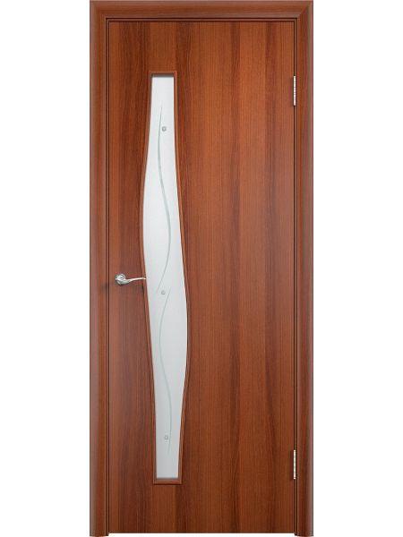 Межкомнатная дверь Верда С-10 Фьюзинг (Итальянский орех)