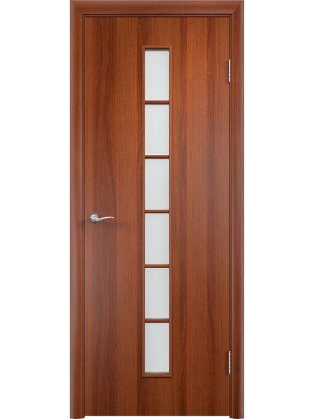 Межкомнатная дверь Верда С-12О (Итальянский орех)