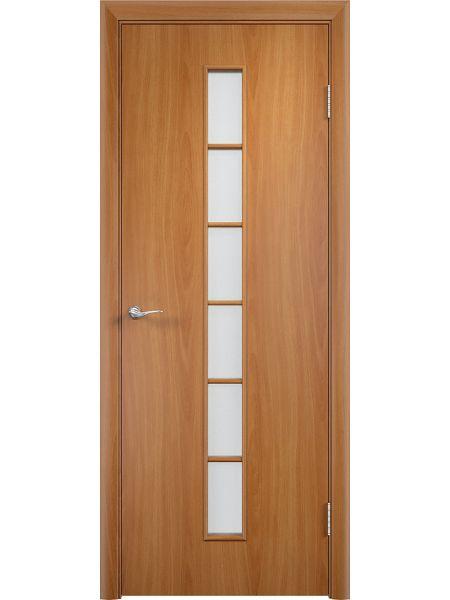 Межкомнатная дверь Верда С-12О (Миланский орех)