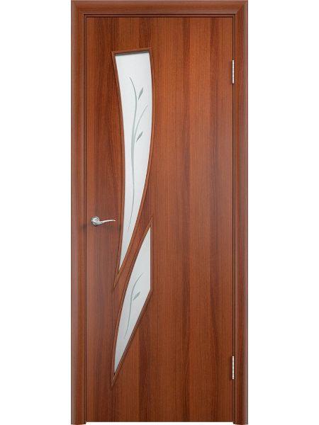Межкомнатная дверь Верда С-2Ф (Итальянский орех)