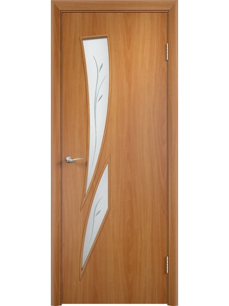 Межкомнатная дверь Верда С-2Ф (Миланский орех)