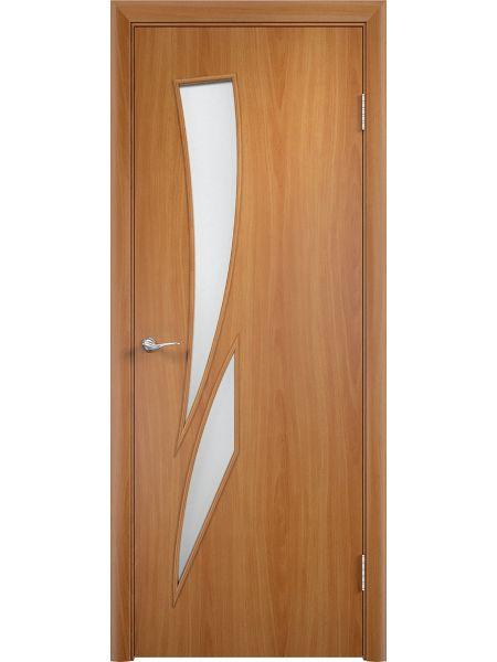 Межкомнатная дверь Верда С-2О (Миланский орех)