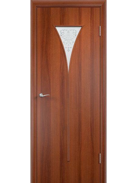 Межкомнатная дверь Верда С-4О (Итальянский орех)
