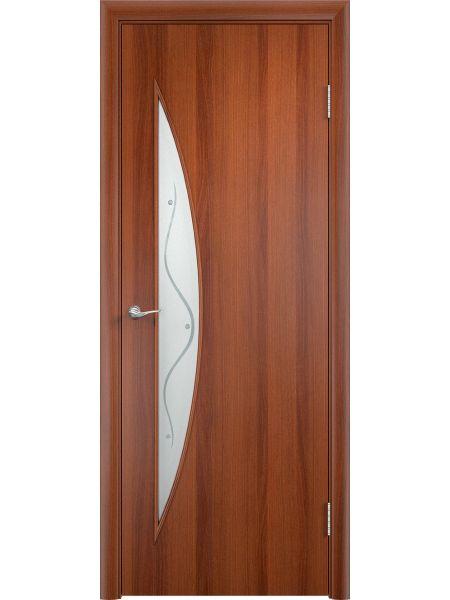 Межкомнатная дверь Верда С-6Ф (Итальянский орех)