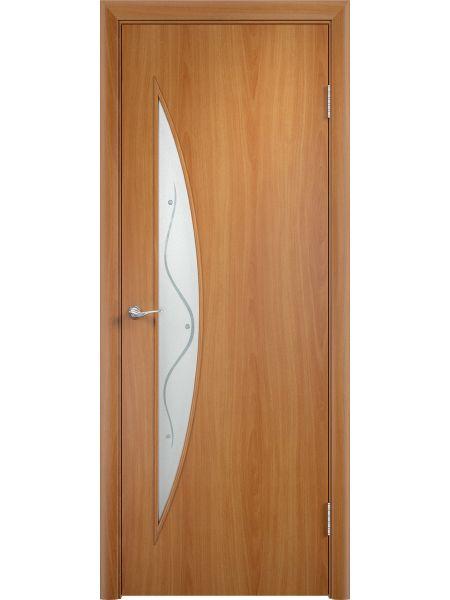 Межкомнатная дверь Верда С-6Ф (Миланский орех)