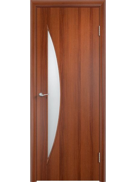Межкомнатная дверь Верда С-6О (Итальянский орех)