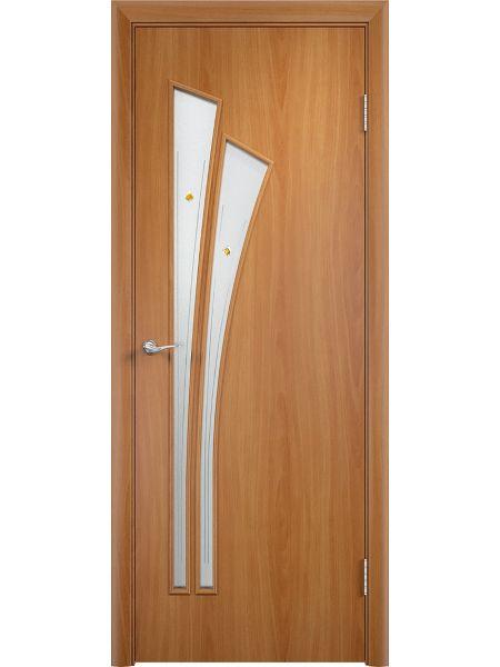 Межкомнатная дверь Верда С-7Ф (Миланский орех)
