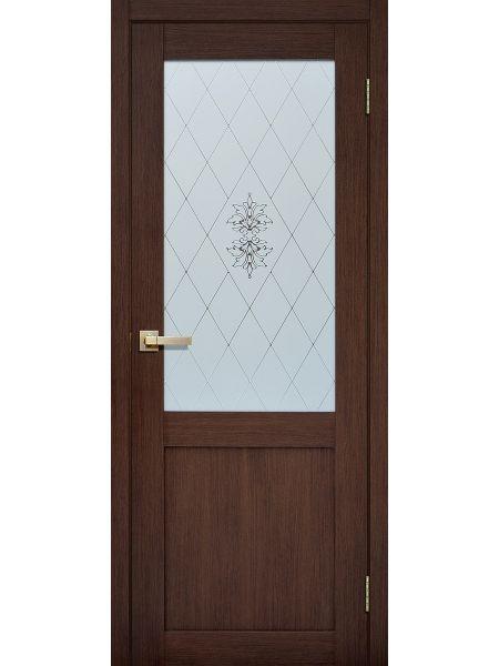 Межкомнатная дверь Fly Doors L-90 (Орех вельвет 3D)