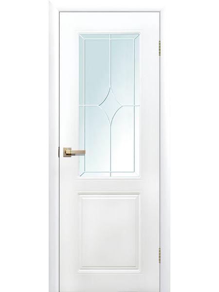 Межкомнатная дверь ПО Квартет (Белая)