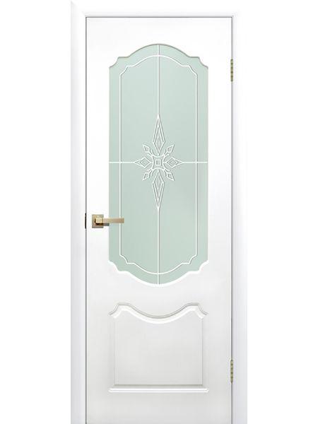 Межкомнатная дверь ПО Симфония (Белая)