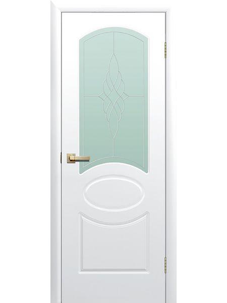 Межкомнатная дверь ПО Соната (Белая)