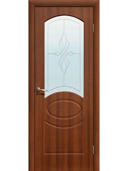 Межкомнатная дверь ПО Версаль (Итальянский орех)