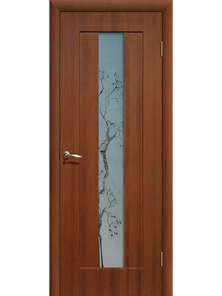 Межкомнатная дверь ПО Японская вишня (Итальянский орех)