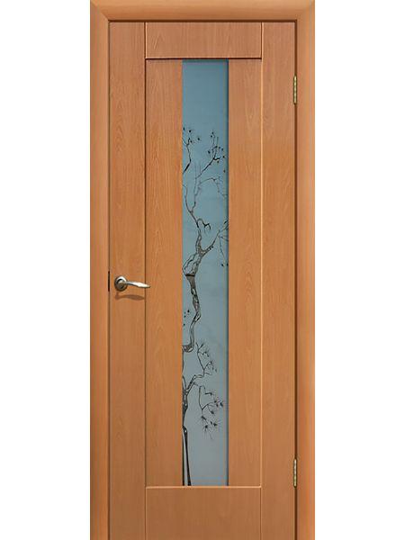Межкомнатная дверь ПО Японская вишня (Миланский орех)