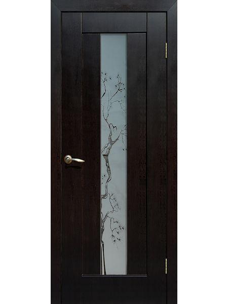 Межкомнатная дверь ПО Японская вишня (Венге)