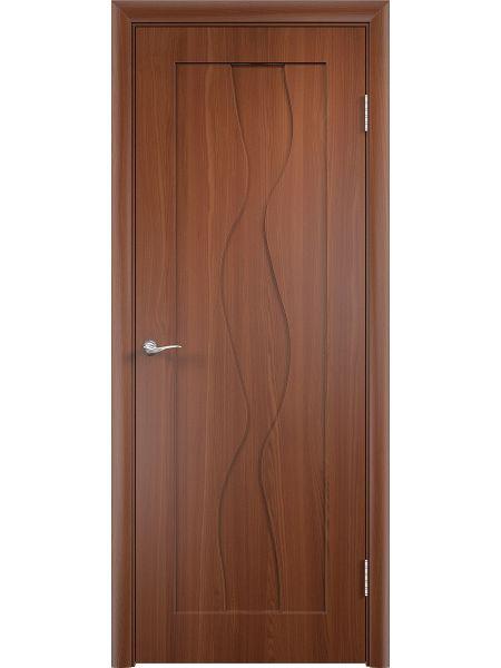 Межкомнатная дверь Верда ПГ Вираж (Итальянский орех)