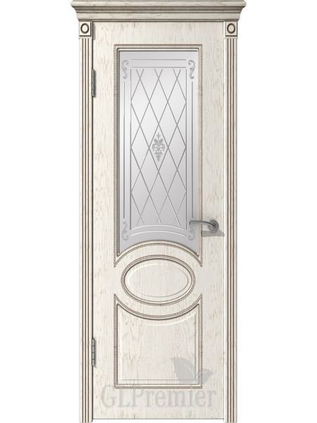 Межкомнатная дверь ВФД GL Premier 12 (Слоновая кость)